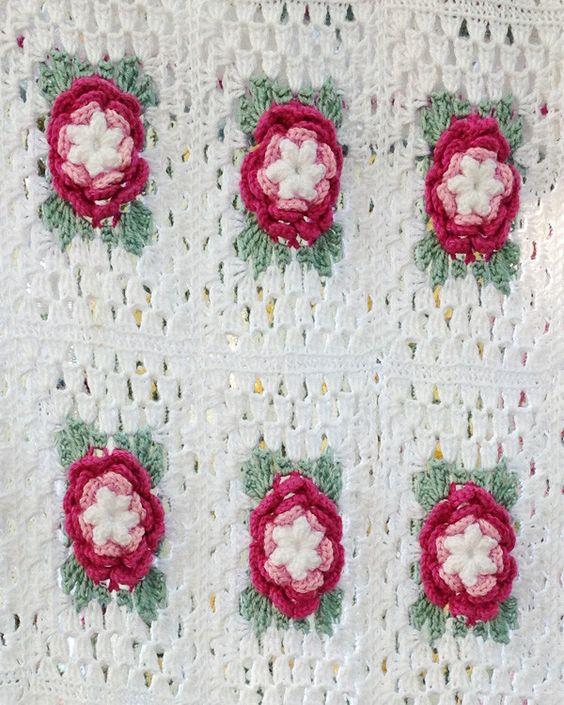 Rose Radiance Afghan Crochet Pattern