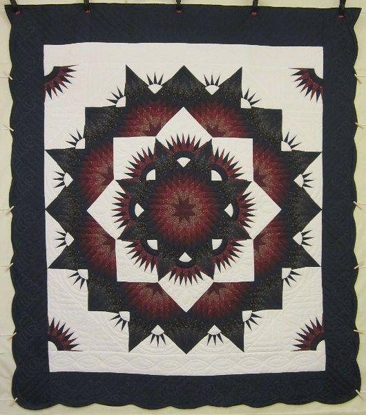Broken Twinkling Star Amish Quilt 101x116 | Quilt Shop | Pinterest ... : amish quilt shops - Adamdwight.com
