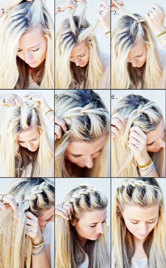 Perfect for when growing bangs out the shorter the bangs the the shorter the bangs the tinier the pieces you should pick up braids pinterest bangs side french braids and fren ccuart Choice Image