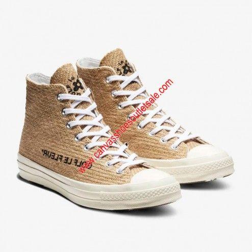 Converse Shoes X Golf Le Fleur Chuck 70 Burlap High Top Brown Cheap Converse Shoes Golf Le Fleur Shoes Cheap Vans Shoes