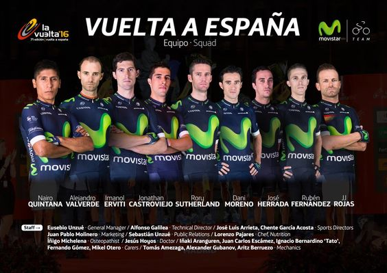 RT @Movistar_Team: Orgullosos de disputar la Grande de nuestro país con este EQUIPAZO de magníficas personas 🙂 #EstaEsLaNuestra #LV2016 https://t.co/QkLIoulPgL