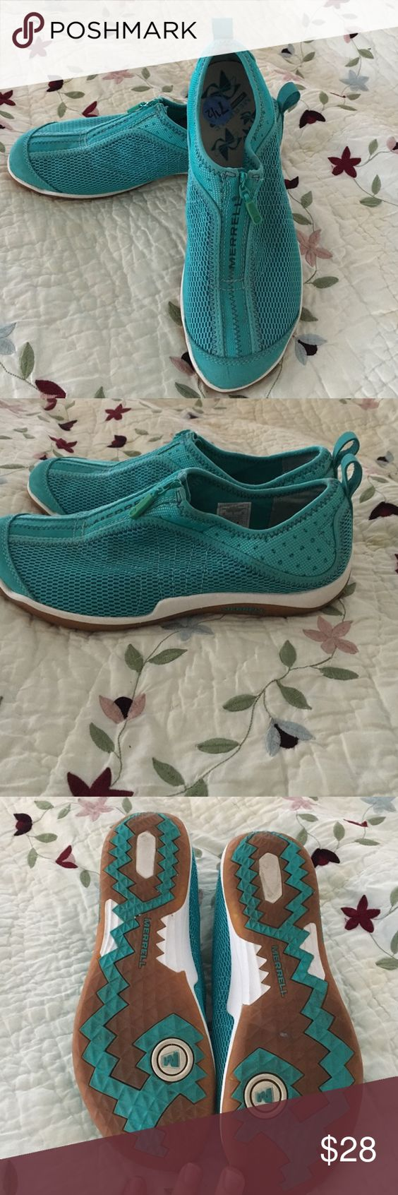 Merrill shoes, slip on . Brand new , never worn Merrill shoes . Size 7 1/2. Merrell Shoes Flats & Loafers