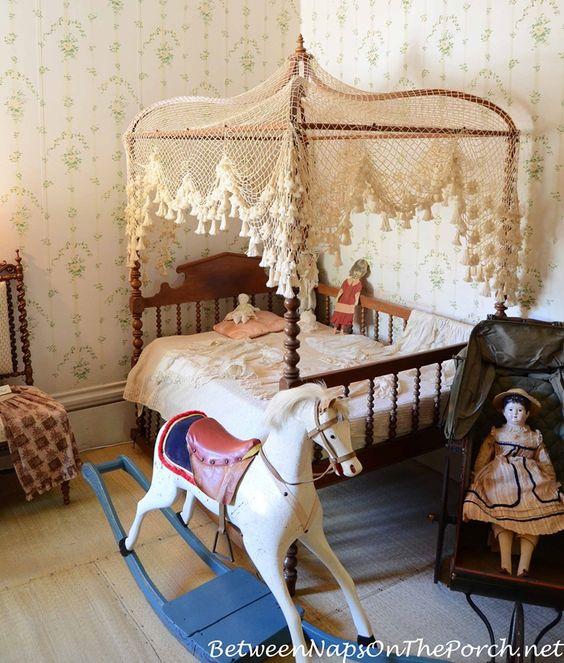 A Storybook Nursery at Rosedown Plantation in St. Francisville Louisiana