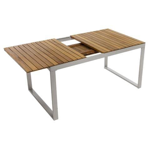 Outdoor Tisch Capri Ausziehbar Akazienholz Aluminium B150 X T90 X H74 Cm Outdoor Tisch Akazienholz Tische Holz