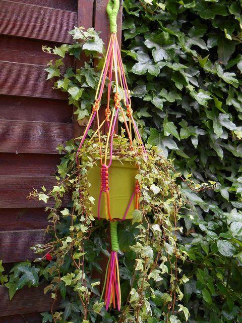 Pots on pinterest - Suspension pot de fleur macrame ...