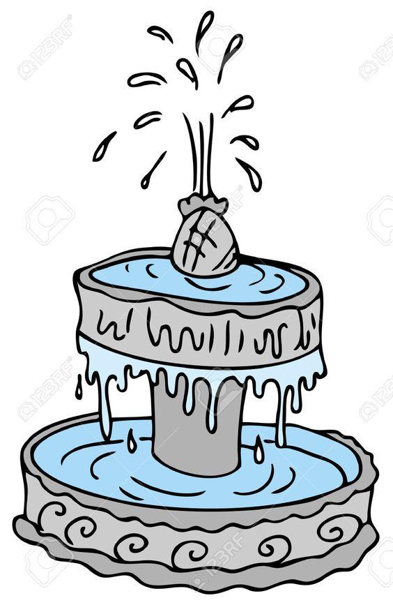 dibujos de fuentes de agua estilo vector buscar con
