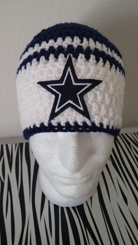 Dallas Cowboys Crochet Beanie crochet Pinterest ...