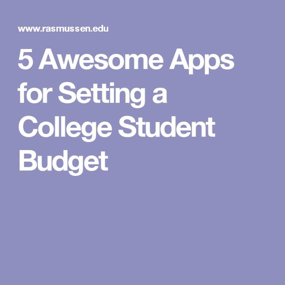 Creating A Realistic Budget For College  Student Health And