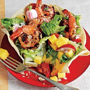 Chipotle-Rubbed Shrimp Taco Salad | CookingLight.com