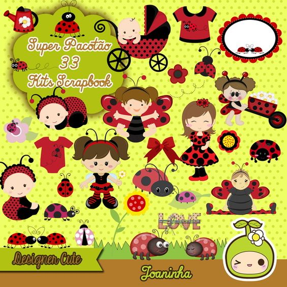 Kit Scrapbook Digital Joaninhas