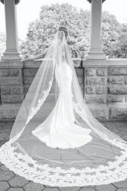 cathedral lace veil: