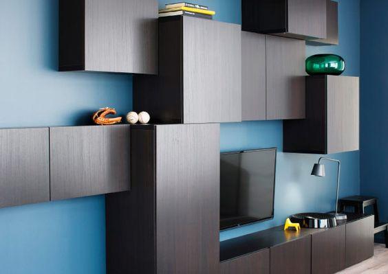 a wall of best storage cabinets in different depths studeer knutselkamer pinterest. Black Bedroom Furniture Sets. Home Design Ideas