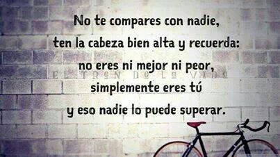 No te compares con nadie