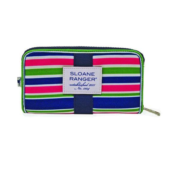 Sloane Ranger Sloanie Stripe Zip Wallet