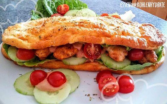 Low Carb Rezept für ein leckeres Cheese-Oregano Fitness-Sandwich. Wenig…
