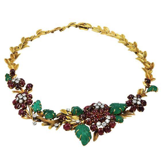 VAN CLEEF & ARPELS  Tutti Frutti  Necklace | 1stdibs.com