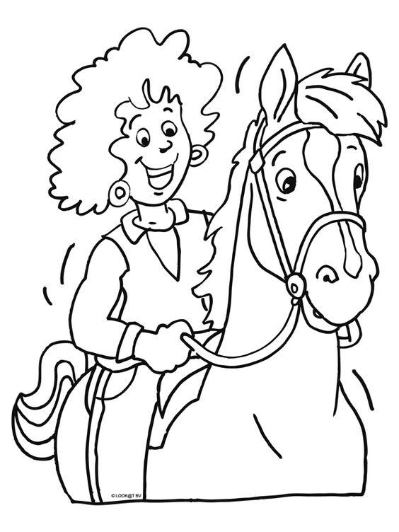 Kleurplaat Paard Thema Paarden Pinterest