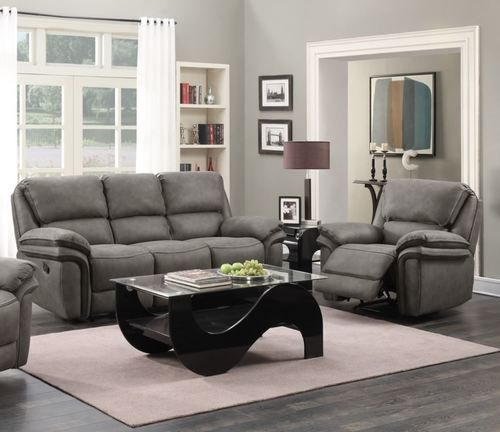 2 Pc Generation Trade Grey Lariat Reclining Sofa Loveseat Set With Memory Foam Seating 660800 Recli Sofa And Loveseat Set Reclining Sofa Classic Living Room