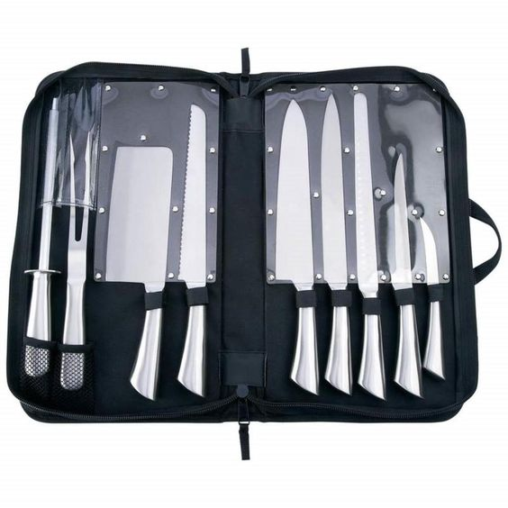 Slitzer 10pc Professional Surgical Stainless Steel Cutlery Kitchen Chef Set #Slitzer