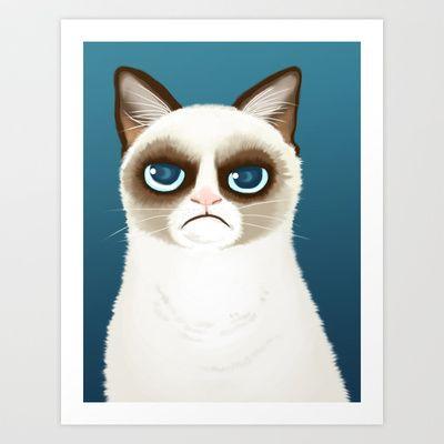 Grumpy Art Print by StudioMarimo - $15.00
