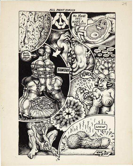 """Robert Crumb Big Ass Comics #1 """"All Meat Comics"""" (Rip Off Press, 1969)"""