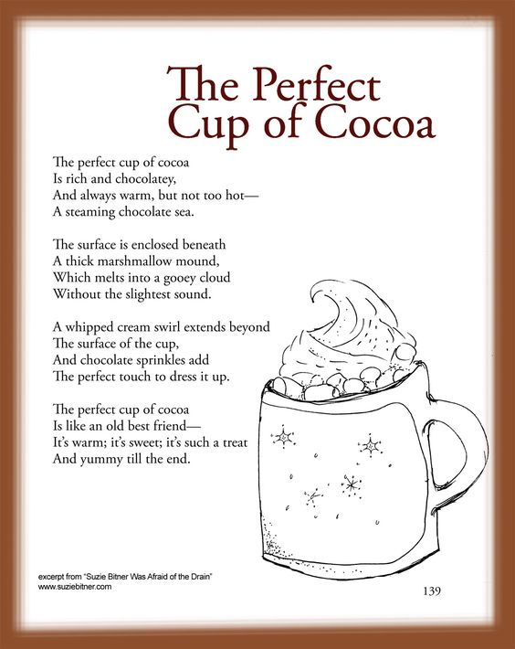 math worksheet : children s poem about the perfect cup of cocoa great for school  : Winter Poems For Second Graders