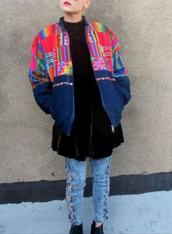 Native print jacket
