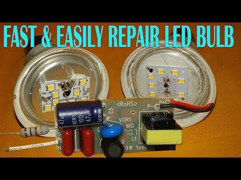 Fast Easily Repair Led Bulb At Home Youtube Led Bulb Bulb Led