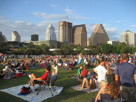 Austin's Auditorium Shores.  Photo by Jenn Deering Davis , edited by CMBJ