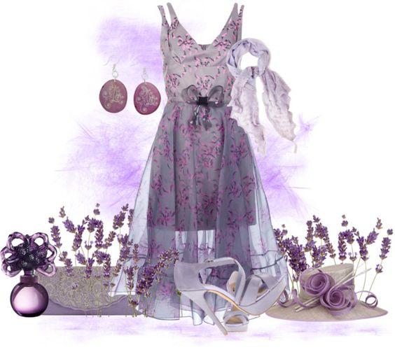 """Lavenderdress"" by kloeyblue on Polyvore"