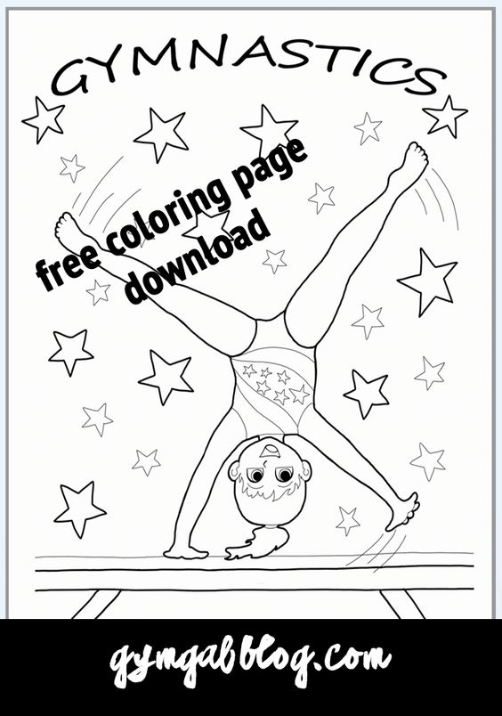 Gymnastics Coloring Page Printable Download Gymnastics Cartwheel