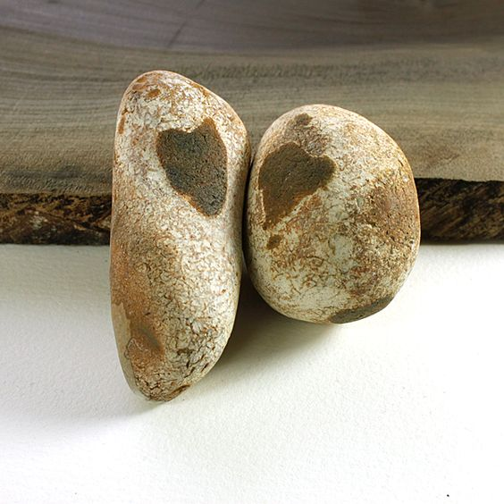 A charming flint couple found on Hunstanton beach, they were resting only a short distance away from each other ~