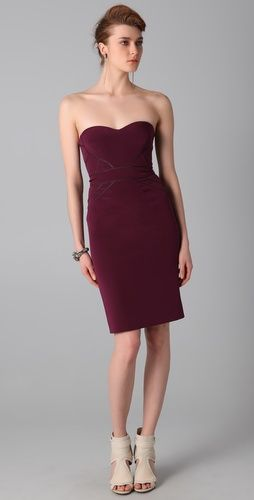 I love this Zac Posen jewel-toned strapless dress for 70% off at shopbop!  #amyesperstyling