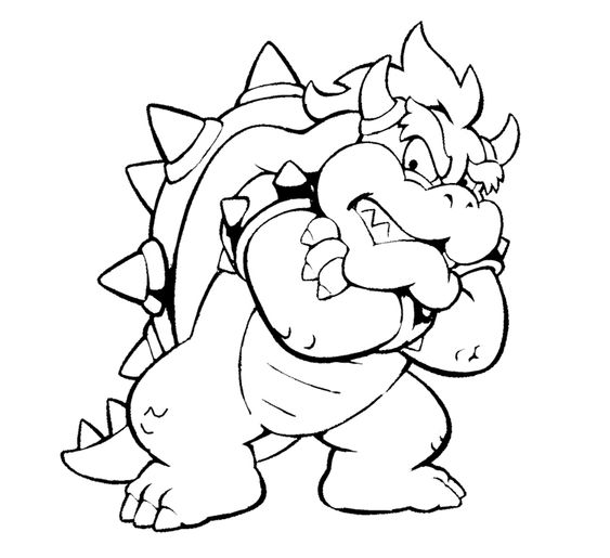 Bowser and bowser jr bowser drawings kng bowser for Bowser jr coloring pages printable