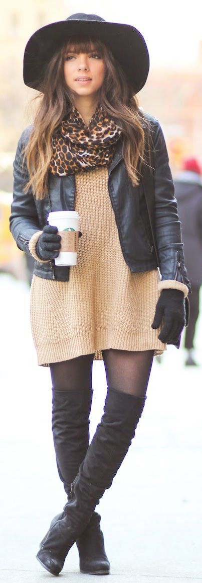 Over The Knee Boots Trend: Daniela Ramirez is wearing thigh high boots from Guess