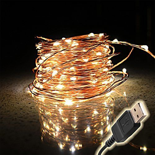TaoTronics Outdoor String Lights, Dimmable LED String Lights for Bedroom, Patio, Party, Christmas Tree, Decorations ( 100 LEDs, 33 ft Copper Wire, Warm White, Remote Control )
