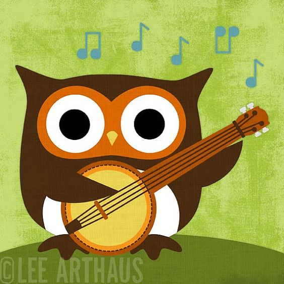 owl playing the guitar - photo #11