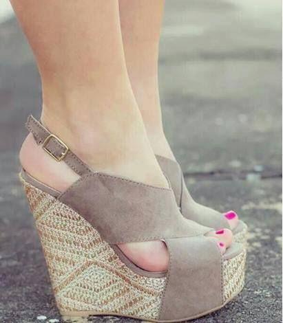 Zapatos, mujer, plataformas