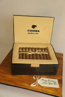 Miss Shortcakes: Cohiba Cigar Box Cake