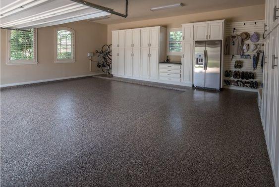epoxy floor garage makeover