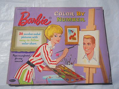 Vintage Barbie Color By Number Book 1962