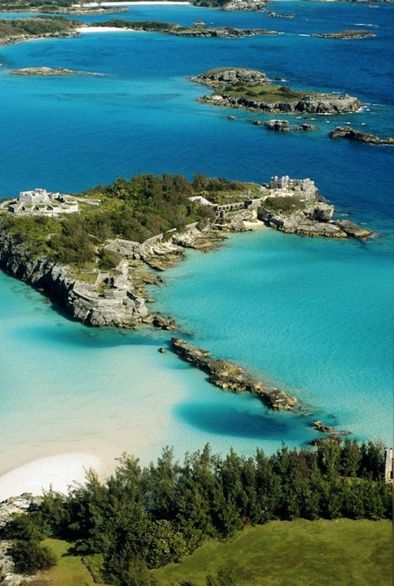 Castle Island, Bermuda   Located in Castle Harbor in St George's Bermuda, this revered island is made up of nature reserves, historic forts, and other scenic, adventure-filled sites.