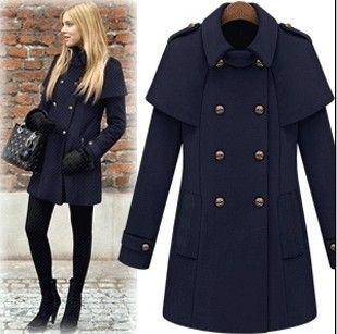 outono e inverno mulheres manto capa de lã casaco de lã de inverno casaco de lã de lã feminino abrigo de invierno manteau US $65.22