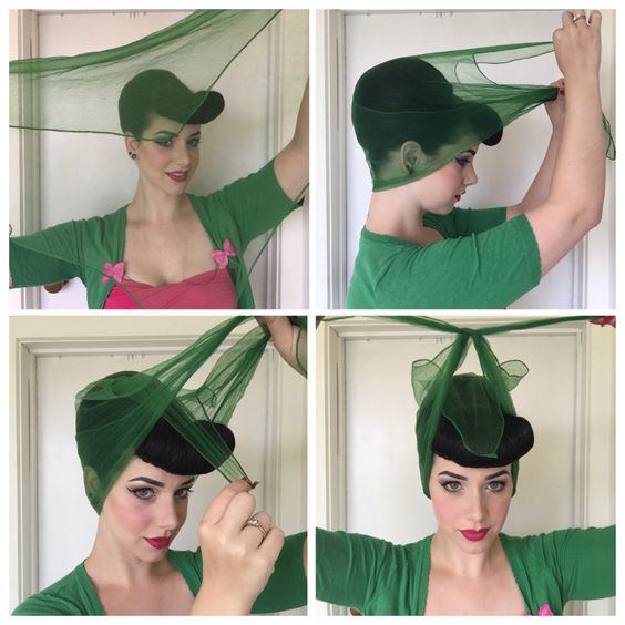 how to tie a headscarf accessories hair