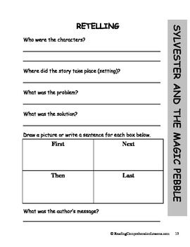Worksheet Sylvester And The Magic Pebble Worksheets 1000 images about sylvester and the magic pebble activities on lesson plans packagethird grade