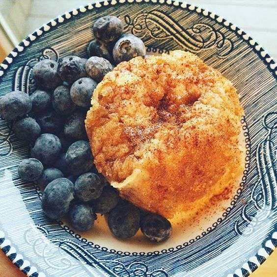 to share my Kodiak Cinnamon Roll Mug Cake with you all this morning ...