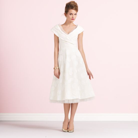 this would make a lovely dress for a city hall wedding -- kate spade royale bridal dress