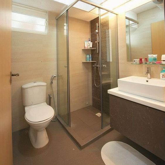 Resort Toilet Telok Blangah Heights Toilet Is Overlay With New Tiles Toilet Resort