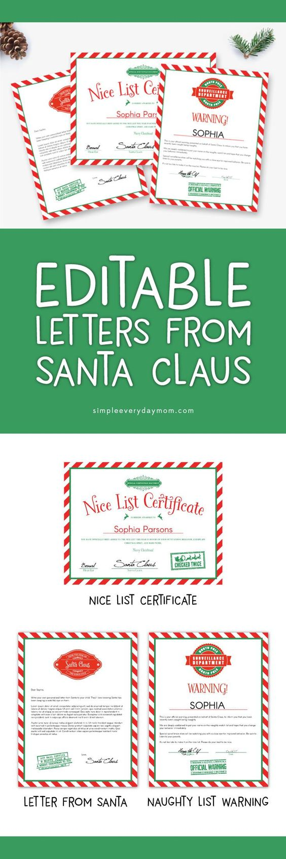 Nice list certificate from santa mistletoe gift package letters nice list certificate from santa mistletoe gift package letters and nice list certificates from santa pinterest nice list spiritdancerdesigns