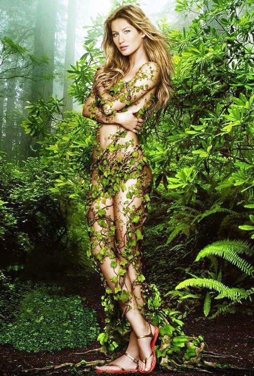 Gisele Bundchen se mostró al natural en Twitter para celebrar el Día de la Tierra.